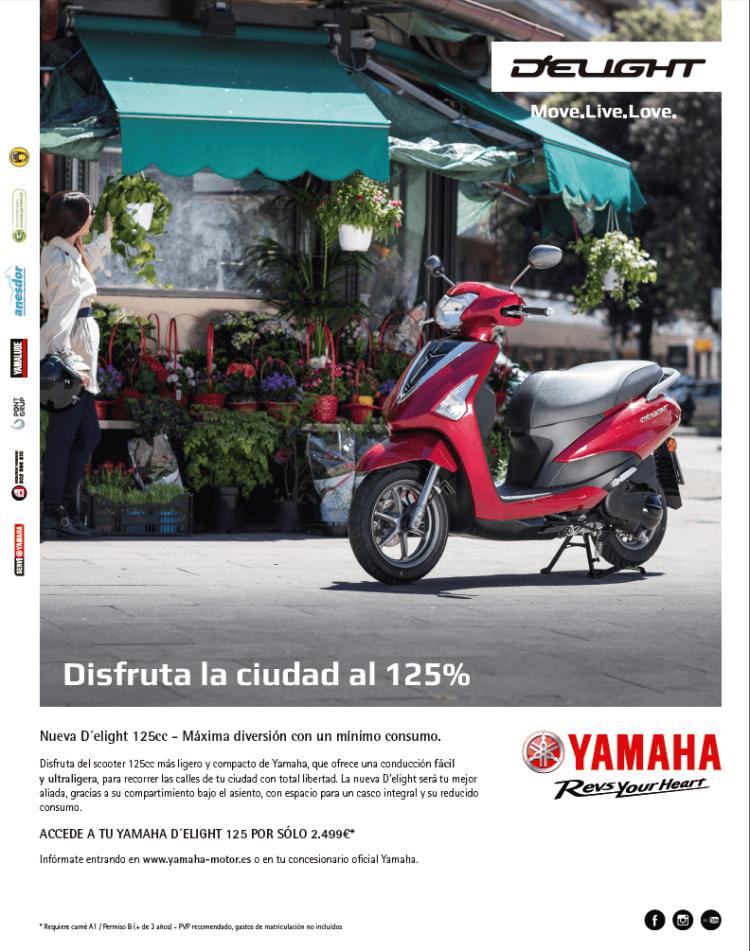 Copy, Creativo, SEO, Javier Debarnot, Yamaha, d´elight 125, ciudad, scooter