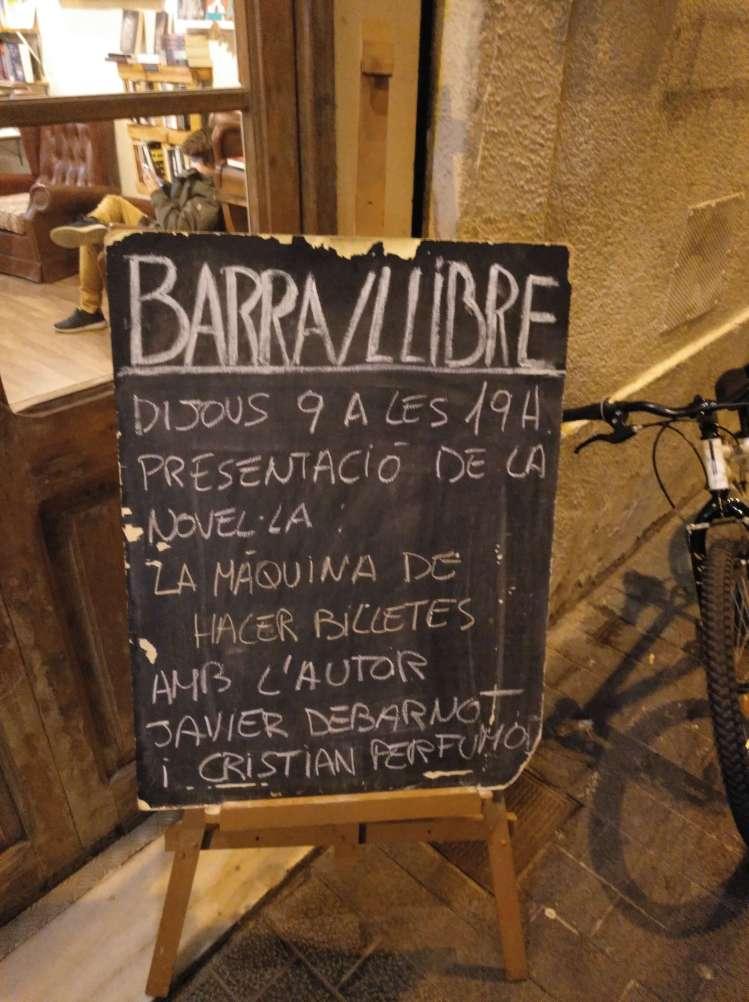 Copy creativo SEO Javier Debarnot La máquina de hacer billetes contenidos librería presentación barra llibre